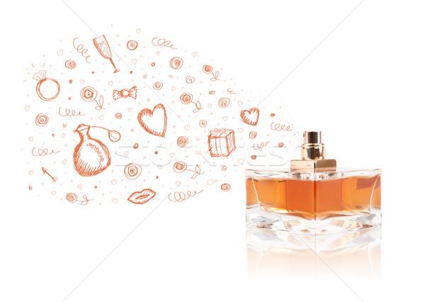 Dışarı güzel parfüm şişe renkli hediye Stok fotoğraf © ra2studio