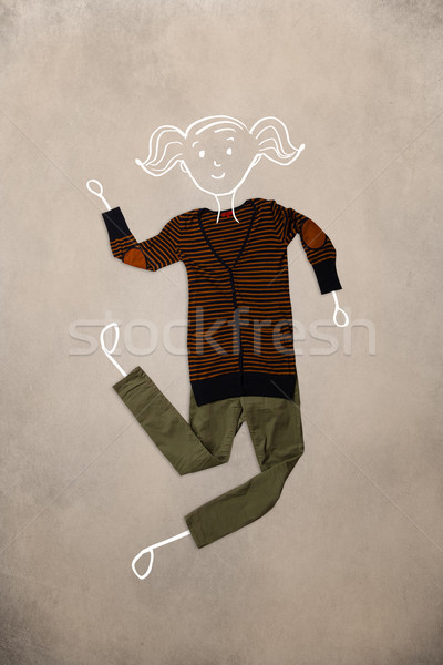 одежды действий женщину рисунок красочный различный Сток-фото © ra2studio