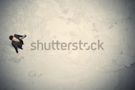 üzletember felső áll copy space sivatag üzlet Stock fotó © ra2studio
