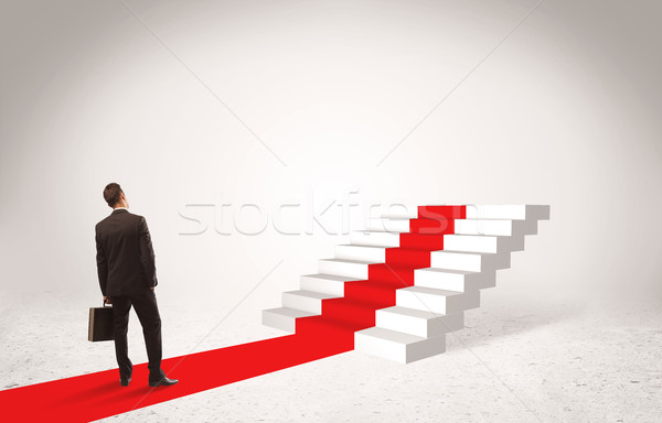 Steps to success concept with businessman Stock photo © ra2studio