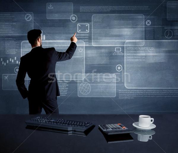 Affaires stratégie réunion employé de bureau dessin Photo stock © ra2studio
