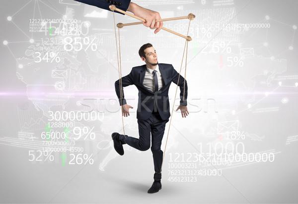 Fantoche homem financeiro resultados números negócio Foto stock © ra2studio