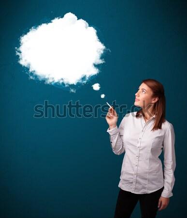 Rauchen ungesund Zigarette Rauch Stock foto © ra2studio