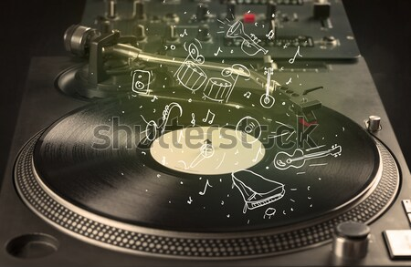 Giradischi giocare musica classica icona musica Foto d'archivio © ra2studio