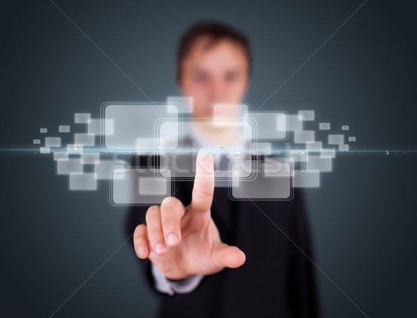 Imprenditore alto tech tipo moderno Foto d'archivio © ra2studio
