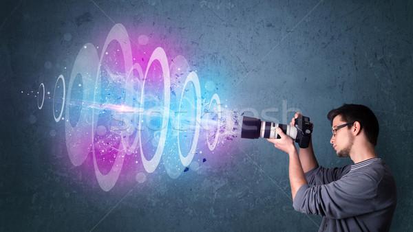 Fotografen Fotos mächtig Licht Strahl Stock foto © ra2studio