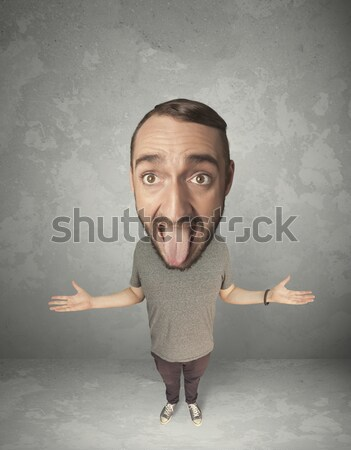 Funny person with big head Stock photo © ra2studio