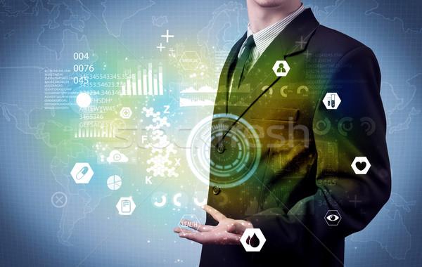 Сток-фото: бизнесмен · медицинской · данные · бизнеса · аналитика · человек