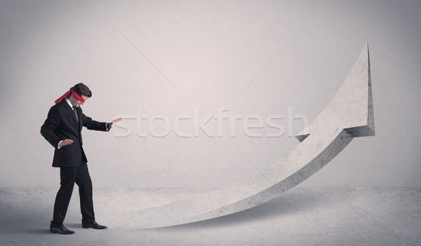 Businessman with blindfolds  Stock photo © ra2studio