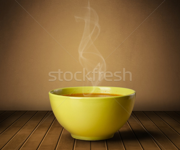 Fresh delicious home cooked soup with steam Stock photo © ra2studio