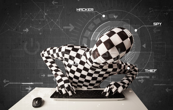 Identidade futurista hackers pessoal informação Foto stock © ra2studio