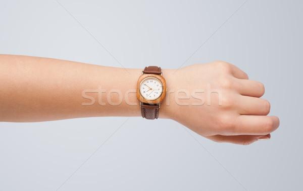 Mano ver preciso tiempo moderna Foto stock © ra2studio