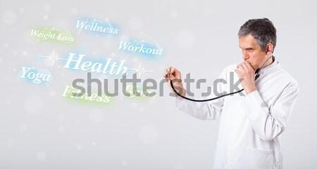 Clínico médico indicação saúde fitness coleção Foto stock © ra2studio