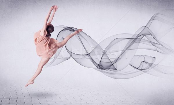 Modernen Ballett-Tänzerin abstrakten swirl Mode Stock foto © ra2studio