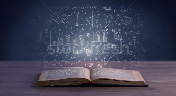 ビジネス 計画 図書 金融 計画 チャート ストックフォト © ra2studio