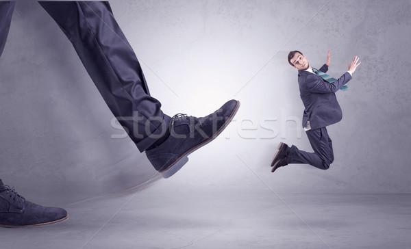 Pie empresario vuelo lugar de trabajo grande Foto stock © ra2studio