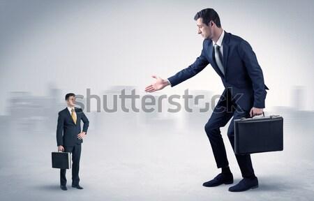 Confuso empresário negócio distraído cara mulher Foto stock © ra2studio