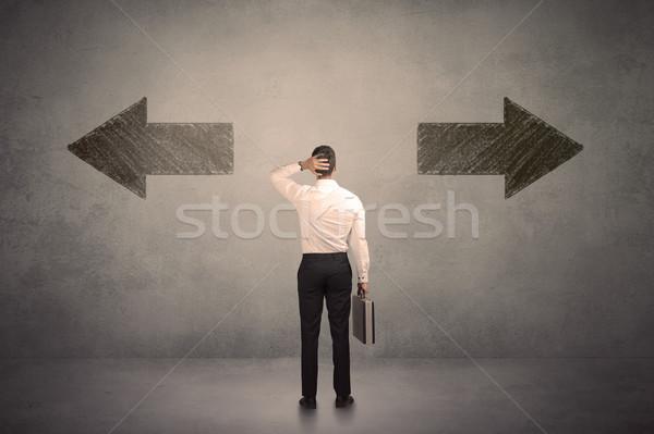 Zdjęcia stock: Człowiek · biznesu · decyzja · stałego · dwa