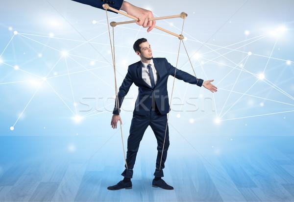 марионеточного бизнесмен финансовых другой стороны бизнеса Сток-фото © ra2studio