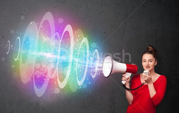 красочный энергии луч Cute Сток-фото © ra2studio
