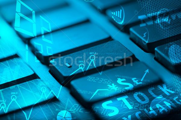 Foto stock: Teclado · negocios · iconos · gestión