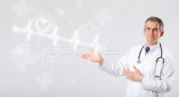 Medico battito del cuore abstract cuore uomo medici Foto d'archivio © ra2studio