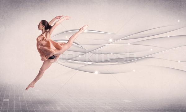 Baletnica nowoczesne dance streszczenie linie Zdjęcia stock © ra2studio