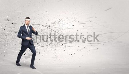 Employé suicide jeunes élégante affaires Photo stock © ra2studio