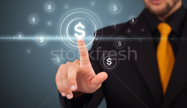 Stockfoto: Zakenman · moderne · business · type · knoppen
