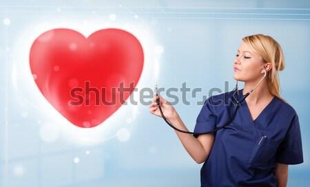 小さな 看護 ヒーリング 赤 中心 かなり ストックフォト © ra2studio