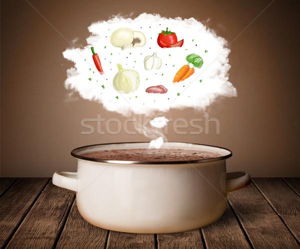 Sebze buhar bulut buhar üzerinde Stok fotoğraf © ra2studio