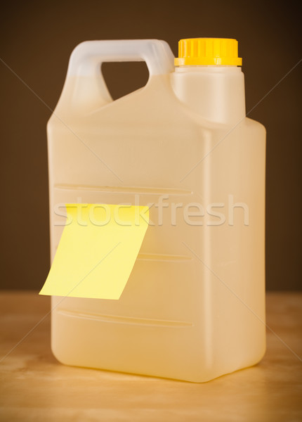 Empty post-it note sticked on gallon Stock photo © ra2studio