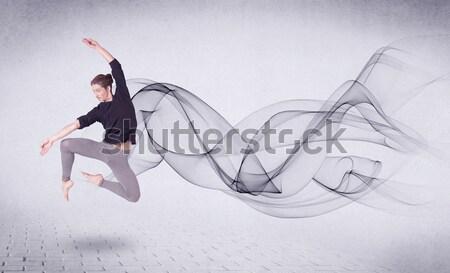 Modern balerin soyut girdap adam Stok fotoğraf © ra2studio