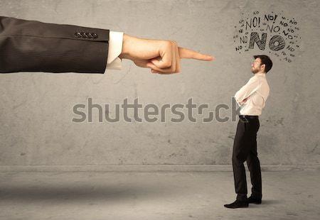 Stock photo: Boss hand guiding beginner salesman