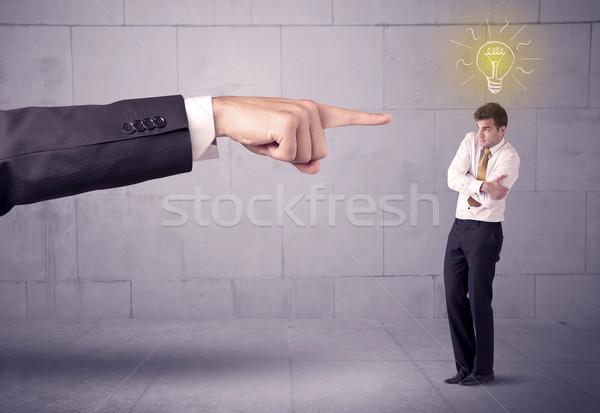 上司 販売 人 アイデア 巨大な 手 ストックフォト © ra2studio