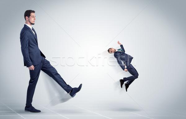 Jonge zakenman baas wreed agressief witte Stockfoto © ra2studio