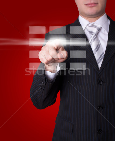 Człowiek cyfrowe przyciski strony klawiatury Zdjęcia stock © ra2studio