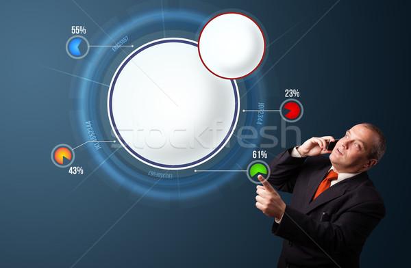 Zakenman pak telefoongesprek presenteren abstract Stockfoto © ra2studio