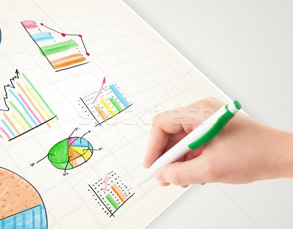 Zdjęcia stock: Rysunek · kolorowy · wykresy · ikona · papieru