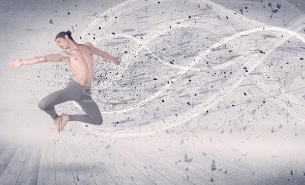 Stok fotoğraf: Performans · balerin · atlama · enerji · patlama · parçacık