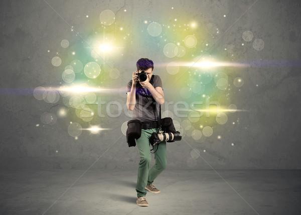 фотограф фары молодые любительский профессиональных Сток-фото © ra2studio