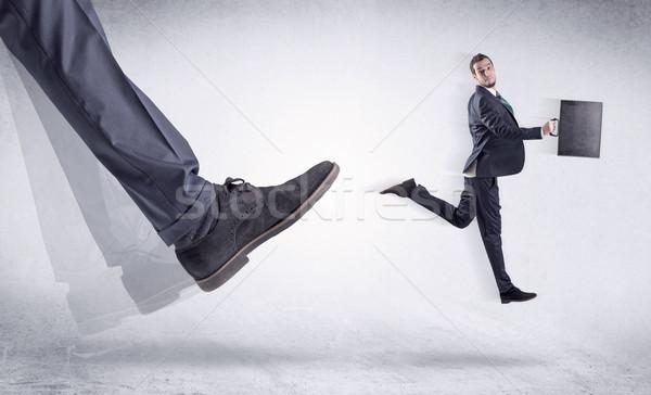 черный обуви небольшой человека Boss Сток-фото © ra2studio