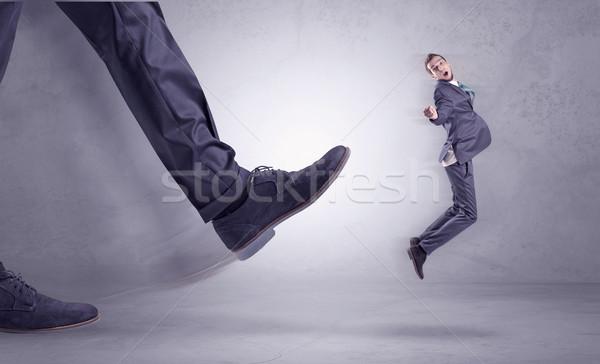 ногу бизнесмен Flying месте большой Сток-фото © ra2studio
