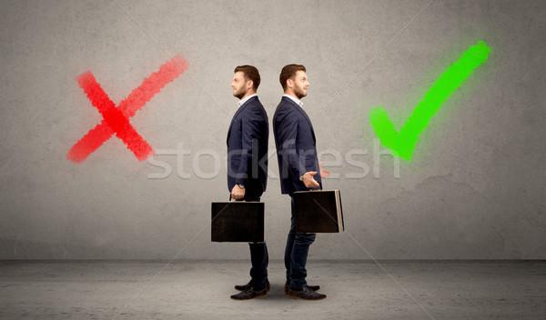 üzletember kettő lehetőségek fiatal választ helyes Stock fotó © ra2studio