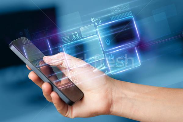 El telefon bilgi veritabanı çevrimiçi Stok fotoğraf © ra2studio
