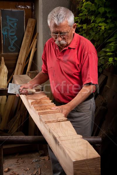 рабочих долото старые стороны древесины строительство Сток-фото © ra2studio