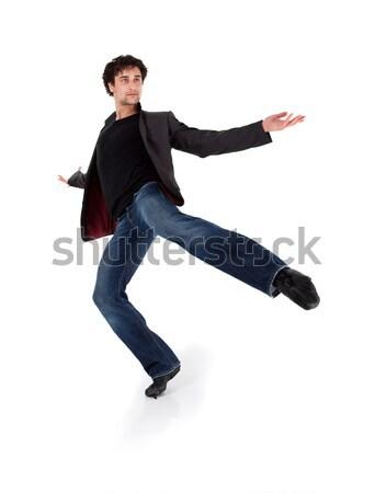 スタイリッシュ 現代 パフォーマー ダンス 孤立した 白 ストックフォト © ra2studio