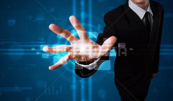 Empresário alto tecnologia tipo moderno Foto stock © ra2studio