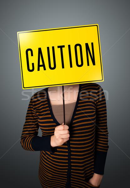 若い女性 注意 にログイン 小さな 女性 ストックフォト © ra2studio
