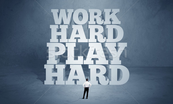Hard working motivation for business person Stock photo © ra2studio